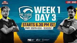 [Hindi] PMPL South Asia 2020 LIVE | PUBG Mobile Pro League 2020 LIVE STREAMING Day 3 Week 1