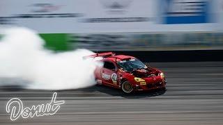 "Ferrari powered Toyota ""GT4586"" at Formula Drift Orlando w/ Ryan Tuerck    Donut Media"