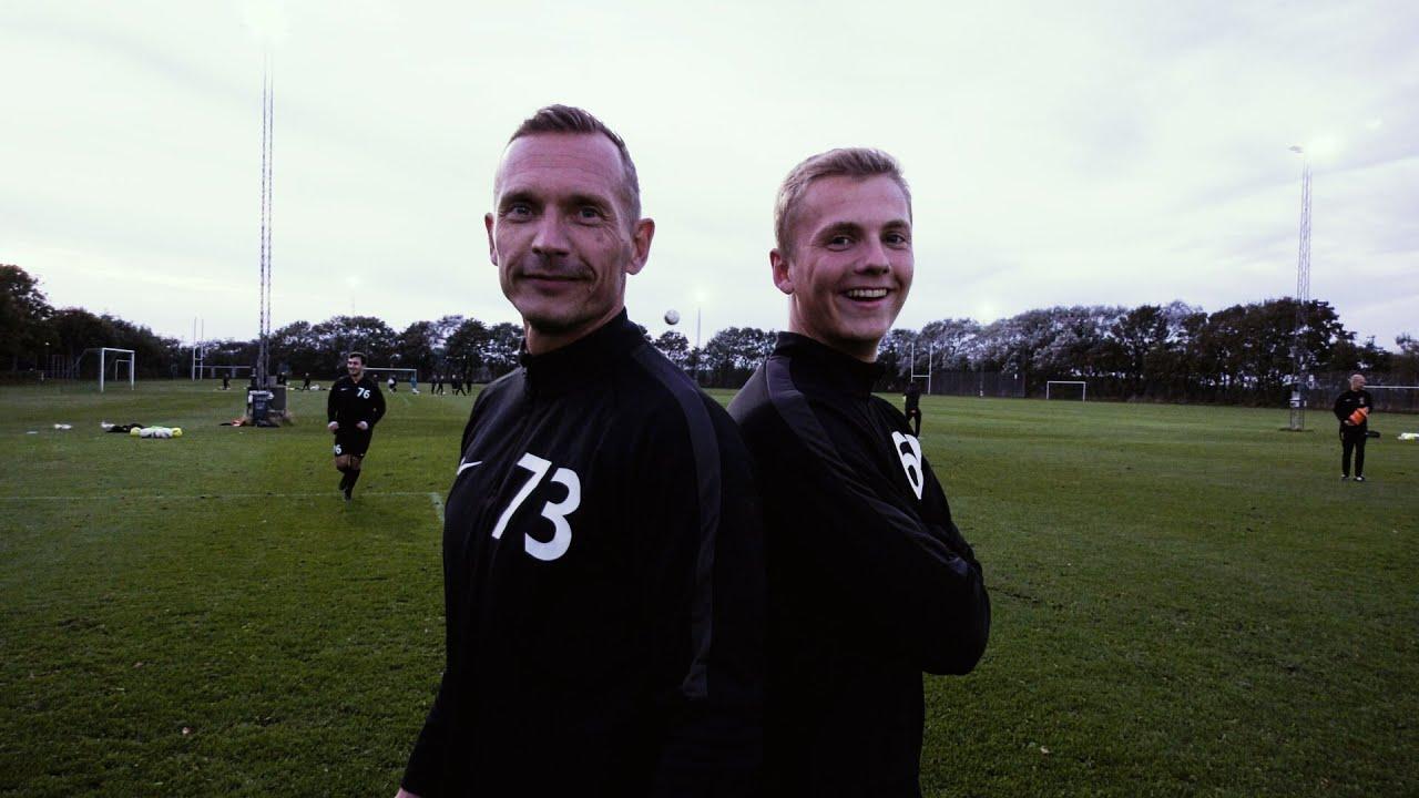 Tidligere superligaspiller spiller Jyllandsserie med sin søn