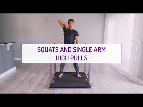 Squats and Single Arm High Pulls