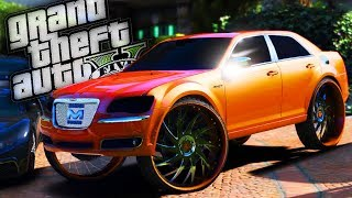 300c SRT8  Donk & House Party!! - GTA 5 Real Hood Life - Day 93