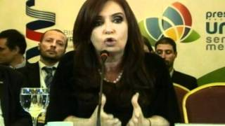 Cristina Fernández Presidenta Pro Témpore Mercosur Cumbre Mercosur Montevideo