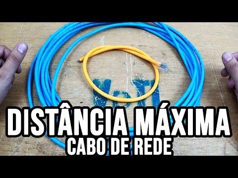 Qual a distancia máxima que o cabo de rede funciona? Quantos metros?