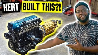 Hert Builds His Own 2JZ at Home! With Special Sauce Golden CD009 Transmission