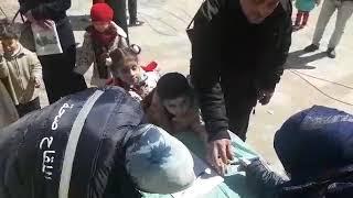انطلاق حملة التلقيح تحت الوطنية بحلب ضد شلل الاطفال واقبال كثيف من الاهالي - فيديو