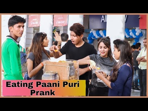 Eating Paani Puri Prank On Public By SHELLY SHARMA | P4 PRANK |