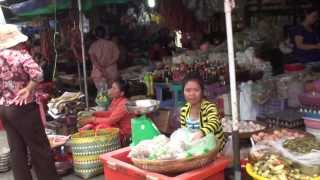 preview picture of video 'Kandal Market 2013 - Street 148, Phnom Penh, Cambodia'