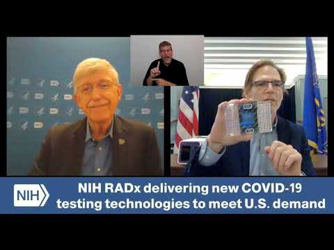 NIH Director Dr. Collins and NIBIB Director Dr. Tromberg Discuss New COVID-19 Testing Technologies