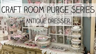 Craft Room Purge Series - Organizing My Antique Dresser