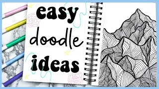 10 EASY Drawing/Doodle Ideas To Try When Youre Bored At Home
