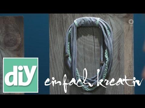 Halsketten aus alten T-Shirts  I DIY einfach kreativ