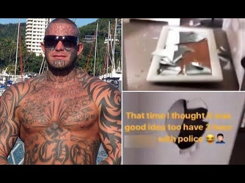 Former bikie boss nicknamed 'Kaos' posts video of 'aftermath of three hour standoff with