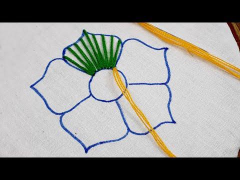 Hand Embroidery Flower Design - Spider Web Stitch Embroidery | Spider Web Stitch Tutorial