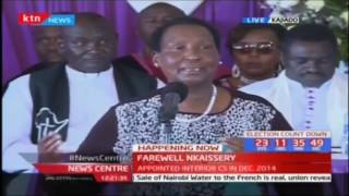 Family and Friends share their moments with the late CS Joseph Nkaissery at his farewell
