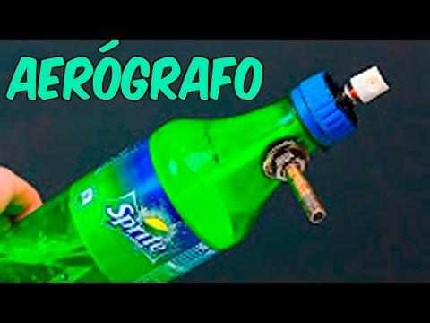 Como Hacer Un Aerógrafo Casero Con Una Botella De Plástico Pintura En Spray Casero