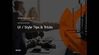 UI/Style Tips & Tricks