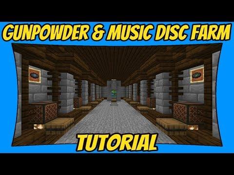 Gunpowder & Music Disc Farm v2 0 Tutorial [Minecraft Bedrock