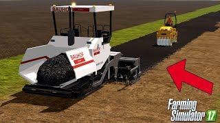 Farming Simulator 17 - Road Construction - Asphalt Paver - WORKING PAVEMENT