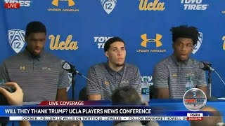 WATCH: UCLA PLAYERS Thank TRUMP After Being Released from CHINA