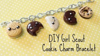 DIY Polymer Clay Girl Scout Cookie Charm Bracelet!