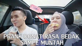 PRANK PACAR DONAT RASA BEDAK SAMPE MUNTAH ! GONE WRONG ! :(