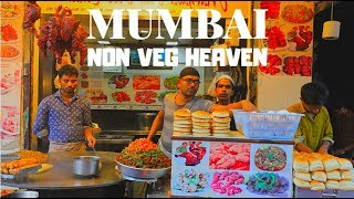AMAZING NON VEG STREET FOOD | MUST TRY AT MUHAMMAD ALI ROAD, MUMBAI