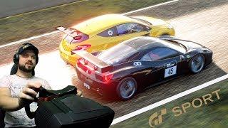 За рулём Рено против Феррари! Онлайн-гонка на Mount Panorama в GT Sport