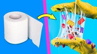 Расслабляющие слайм видео / Игрушки антистресс из лизунов – 12 идей