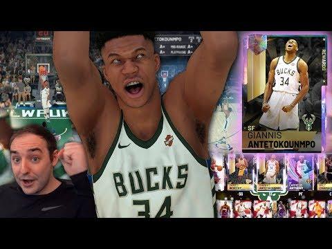 NBA 2K19 My Team GALAXY OPAL GIANNIS! THE BEST CARD IN 2K WOAH!!!