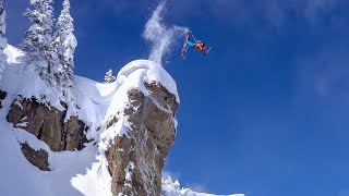 Jackson Hole Massive Air, Backcountry Skiing, Straight Lines & Couloirs   O_leeps