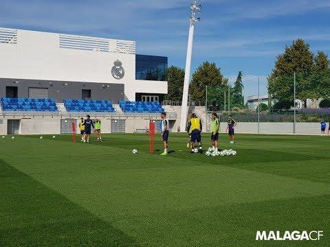 El Málaga, en la ciudad deportiva del Real Madrid