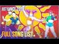 Just Dance 2019: Full Song List Ubisoft us