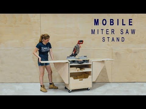 DIY Mobile Miter Saw Stand
