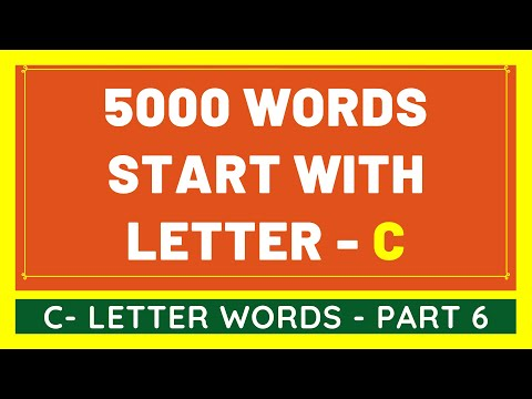 5000 Words That Start With C #6 | List of 5000 Words Beginning With C Letter [VIDEO]