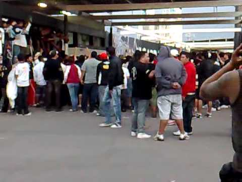 """Algunos cánticos antes de COLO COLO (1) - Cobresal (0)"" Barra: Garra Blanca • Club: Colo-Colo"