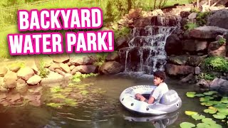 *BACKYARD WATER PARK* With Aquascape Pond