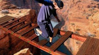 DONT Fall through the Trap Door Bridge!!