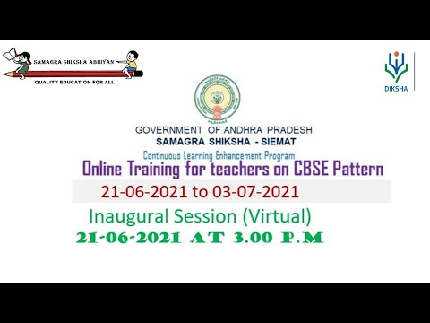 ONLINE TRAINING FOR TEACHERS ON CBSE PATTERN - DAY 1 - INAUGURAL SESSION