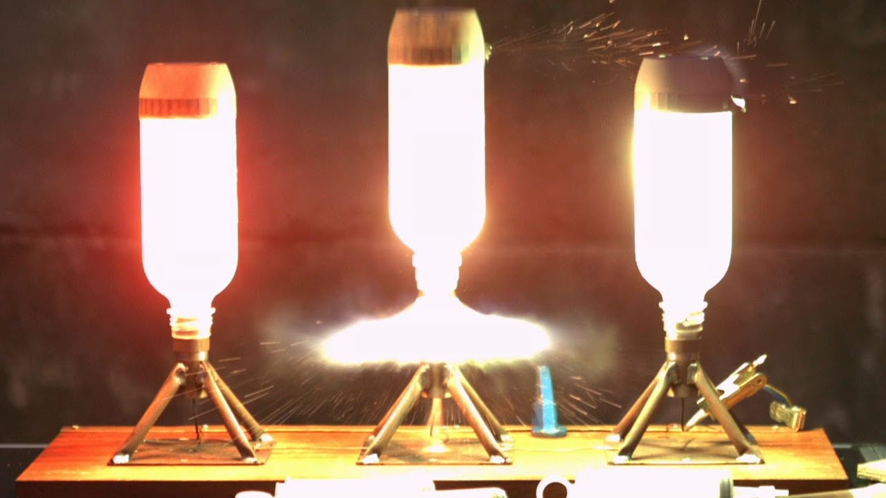 The Science Of Rocket Fuel Explained With Plastic Bottles And Slow Motion
