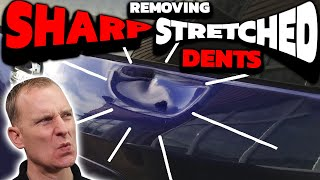 SHARP STRETCHED DENT GONE! | NO Filler & No Paint!