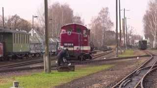 preview picture of video 'Döllnitzbahn Lok umsetzen in Mügeln'