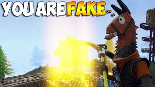 A Scammer Thought I Was A FAKE DAN7EH... (Fortnite Save The World)