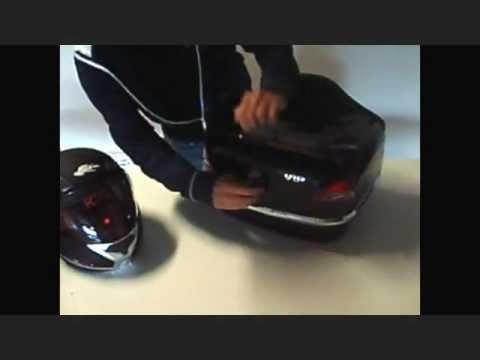 Maleta trasera rígida para motos custom