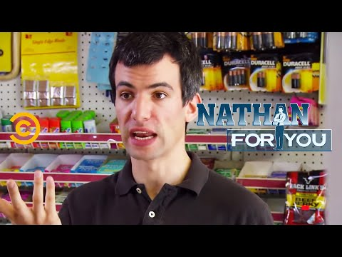 Nathan For You - One of the very few times Nathan has broken character.