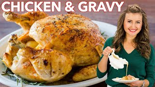 Instant Pot Whole Chicken + Easy Chicken Gravy Recipe