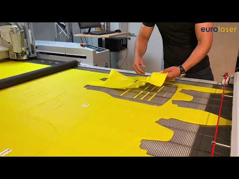 Laser cutting of Cordura -fabric - Delinova150 by Delcotex