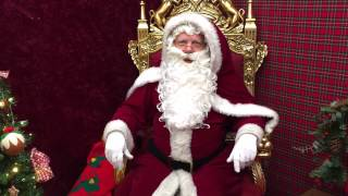 preview picture of video 'Father Christmas at Basildon Market (FREE Santa's Grotto)'