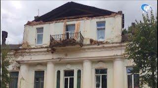 В ходе ремонта памятного Дома Беляева в Старой Руссе пострадал рабочий