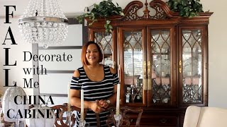 VLOGTOBER (10.11.19) Decorate With Me | China Cabinet For Fall 2019 (Traditional Meets Glam)