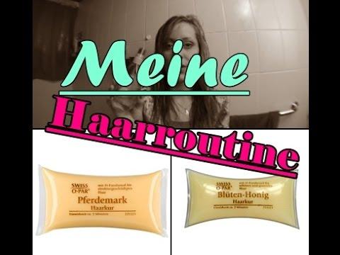 MEINE HAARROUTINE